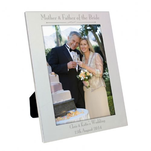 Personalised Silver 5x7 Decorative Mother & Father of the Bride Frame